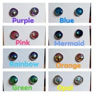 New mermaid scale earrings